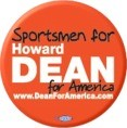 Sportsmen for Howard Dean Button