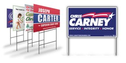 Custom Yard Signs - 1 color, 2 sides, NO WIRES
