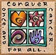 """Conquer Cancer"" Handmade Collector's Pin"