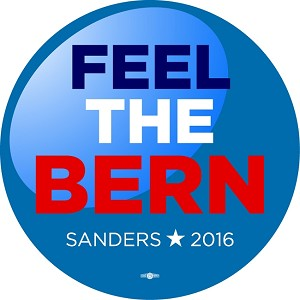 "Feel the Bern (Bernie) - Button - 2 1/4"" round"