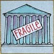 """Fragile Supreme Court"" Handmade Collector's Pin"