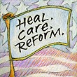 """Heal. Care. Reform"" Handmade Collector's Pin"