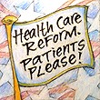 """Health Care Reform. Patients Please"" Handmade Collector's Pin"