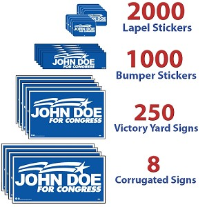 Political Campaign Kit - LARGE - 1 Color