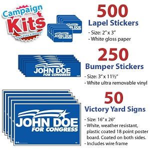 Political Campaign Kit - SMALL - 1 Color
