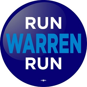 "WARREN RUN - Button - 2 1/4"" round"
