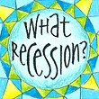 """What Recession"" Handmade Collector's Pin"